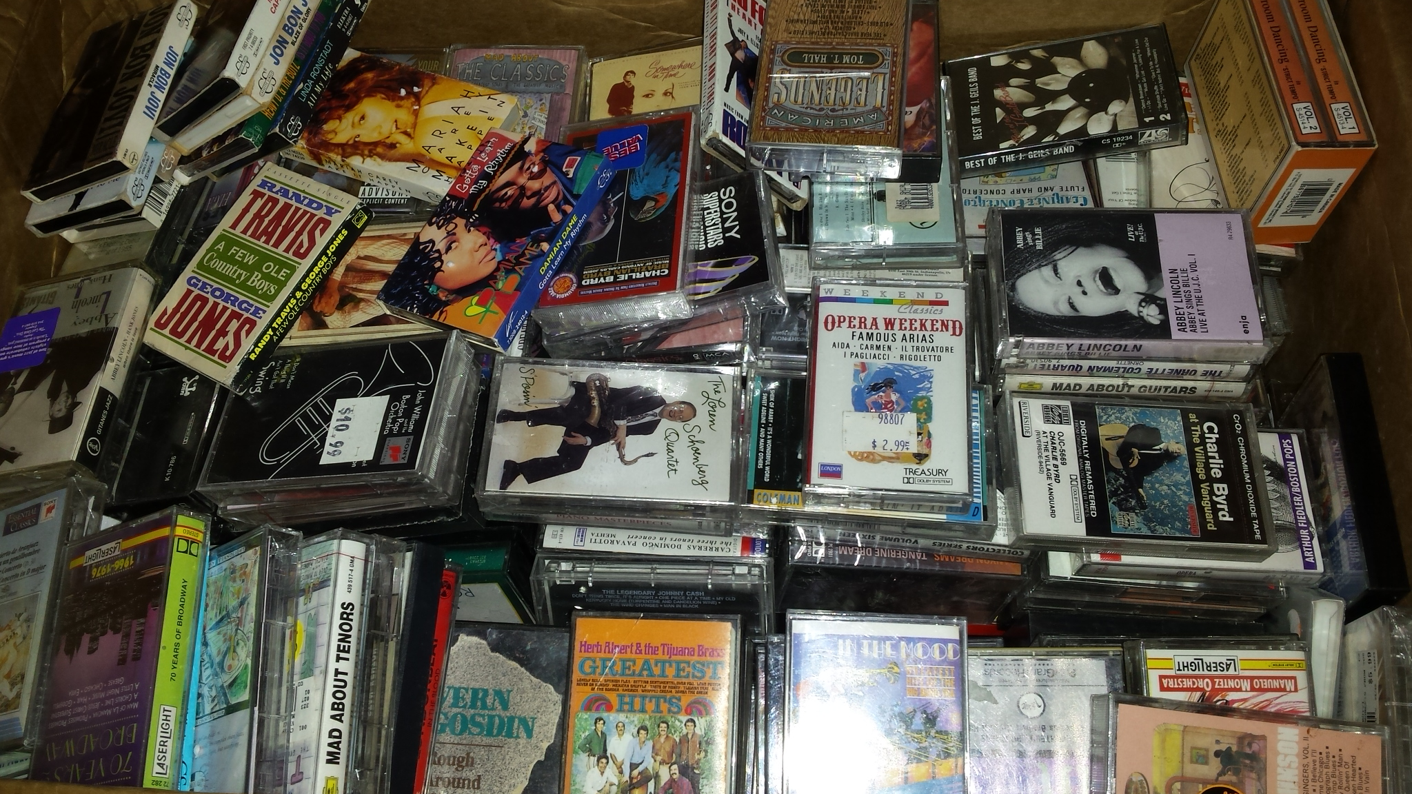 Selling cassettes